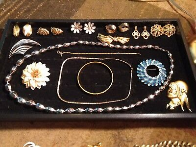 Vintage Estate lot of all TRIFARI marked costume jewelry 8 pieces
