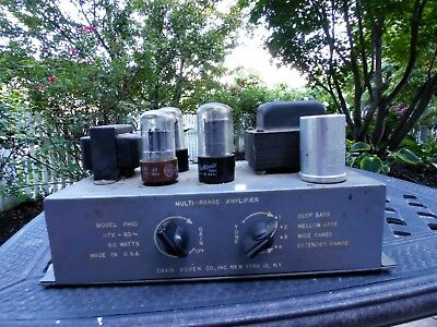 BOGEN Vintage Tube Multi-Range Amplifier HiFi GUITAR Amp 1950's MODEL PH10 Y-82