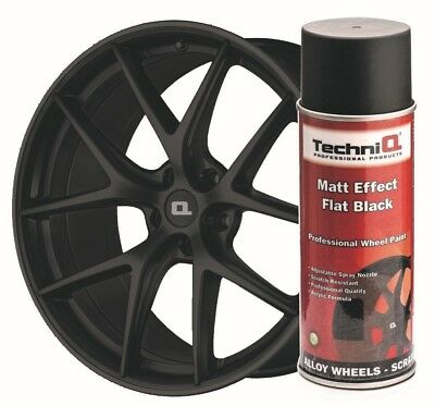 Matt Black Alloy Wheel Paint Spray 400ml Spray Paint Coating TECHNIQ QUALITY