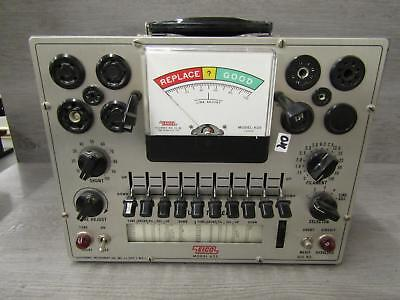 Eico Electronic Instrument Co. Model 625 Tube Tester Tested
