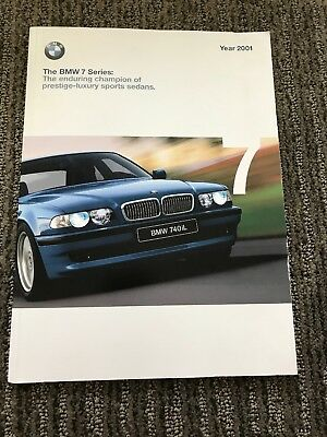 2001 bmw 7 series Sales Brochure