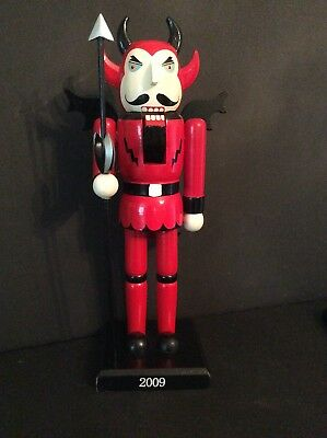 """Zhejiang Tongfeng Arts And Crafts Devil Nut Cracker Red 14"""" Tall Ltd Ed."""