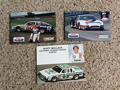 1980s Pontiac Motorsports, group of three different handout cards from the races