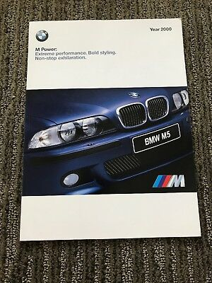 2000 BMW M Power Full M Line Sales Brochure