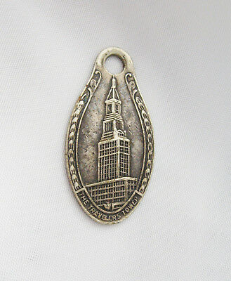 Vintage Key Fob Travelers Insurance Tower ID Tag Medal