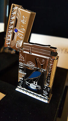 St Dupont Pharaoh Second Edition Silver Limited Edition Lighter Item # 016078