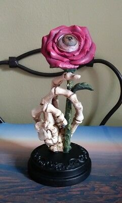 Skeleton Hand Figure with Rose Halloween Decor Ashland