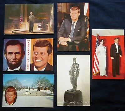 6 Post Cards PRESIDENT Lincoln & Kennedy  EMANCIPATORS #1806