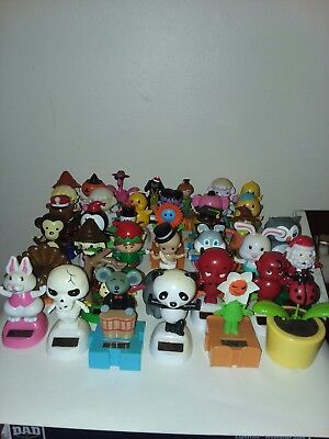 Solar Powered Dancing Animals Sun Catcher Bobble Head Toys Lot of 38