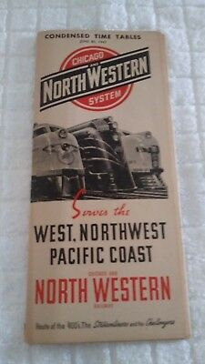 Chicago and NorthWestern System Timetable (1947)