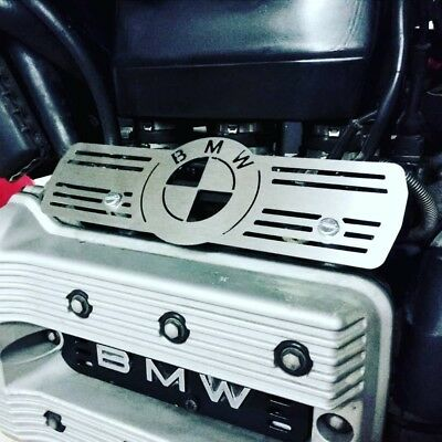 BMW K75 Injector Rail Cover Guard brushed Stainless Cafe Racer Scrambler Custom