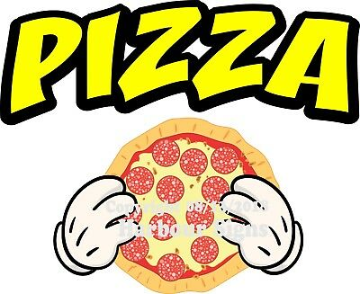 PIZZA DECAL (Choose Your Size & Color) Concession Food Truck Sticker M