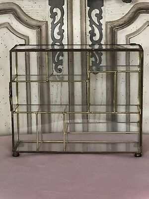 Brass & Glass Curio Display Collectible Case