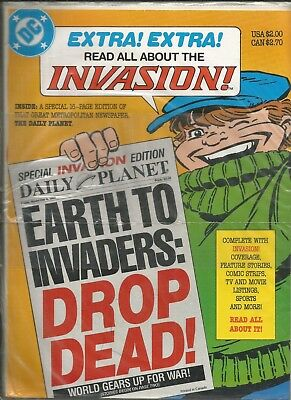 Invasion Special #1 Daily Planet Newspaper VFN/NM 1988 DC Comics polybagged