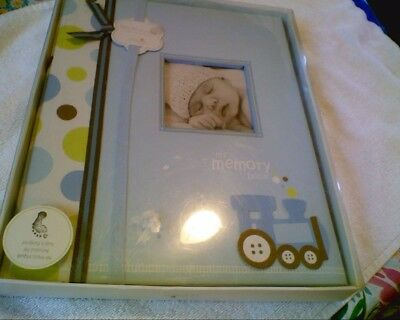 New L'il Peach Boy Blue Baby Memory Book