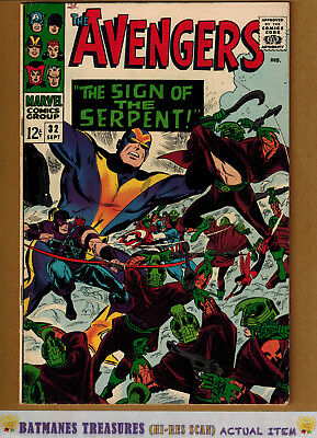 Avengers #32 (8.0) VF By Stan Lee 1966 Silver Age Key Issue