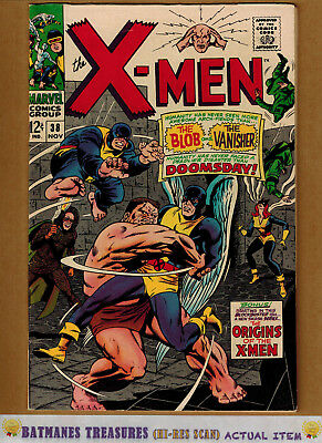 Uncanny X-Men #38 (8.5) VF+ Cyclops origin 1967 Silver Age Key Issue