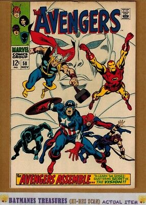 Avengers #58 (5.0) VG/Fine 2nd Vision Appearance & Origin 1968 Silver Age