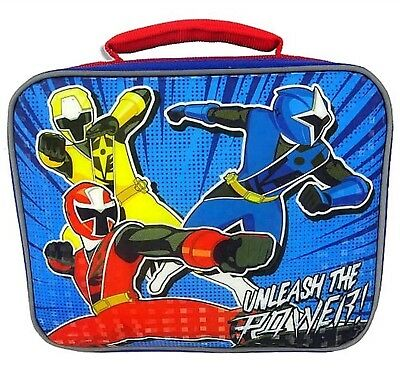 Power Rangers Unleash The Power Soft Insulated Lunchbox - Kids Lunch Bag