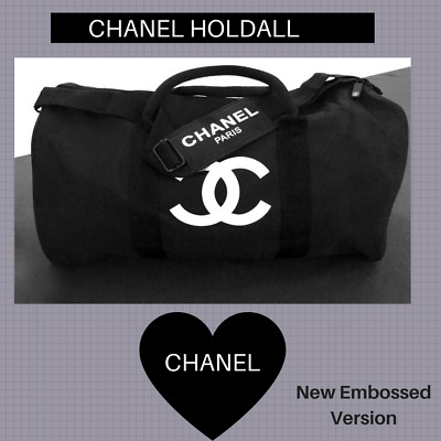 Chanel Vip gift Sport Gym Duffle Overnight Weekend Travel Bag  (New Embossed!!!)