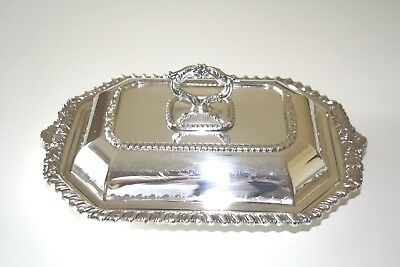 Vintage Silverware Silverplate Covered Entrée Serving Dish With Removable Handle