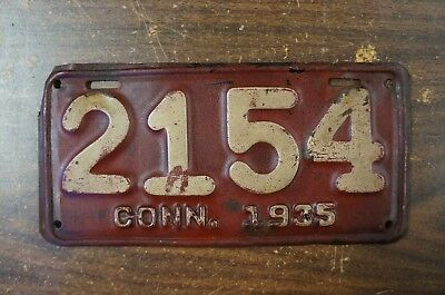 1935 Connecticut MOTORCYCLE License Plate