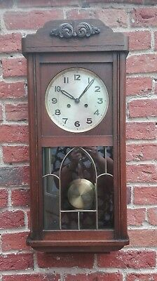 Vintage Wall Clock with Ting Tang Strike