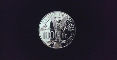 France Casino De Monte Carlo 100 Francs Marked Sterling ~Nd~ Choice Gem Proof
