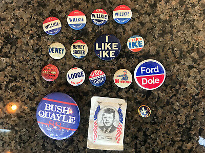Vintage Connecticut Governor & Republican Presidential Campaign Buttons