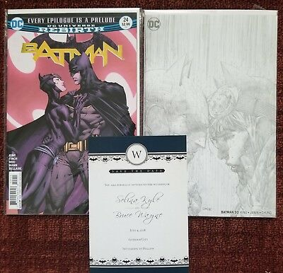 Batman 24 & Batman 50 Engagement And Wedding Jim Lee 1:100 Pencils Variant VF/NM