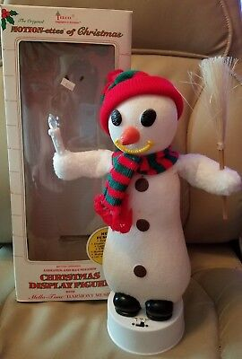 Telco Motionette Snowman With Box Works Properly Very Cute