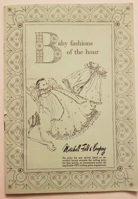 """Vintage Marshall Field """"Baby Fashions Of The Hour"""" Book 1952. 24 pages rare"""