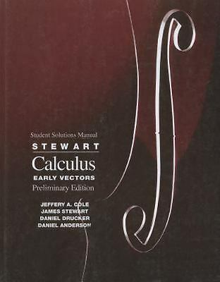 Calculus : Early Vectors by James Stewart (1998, Paperback)
