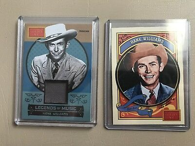 Lot Of 2 2014 Panini Golden Age Hank Williams Base & Legends Of Music Swatch