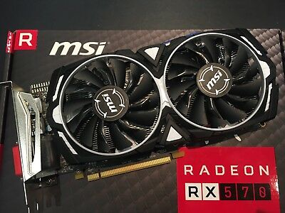 MSI AMD Radeon RX 570 Armor 4GB Edition Gaming Graphics Card Excellent Condition