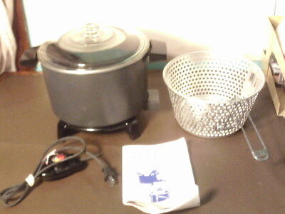 Dazey 6 Quart Chef's Pot Model DCP-6 Multi Cooker Fryer Steamer