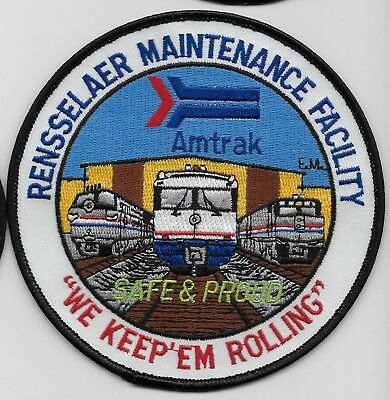 Railroad Railway Amtrak Service Facility patch Colorful Rensselaer New York NY