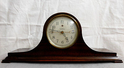 Vintage TELECHRON Electric Mantle Clock Mahogany Wooden Case