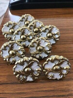 9 Vintage Round Amerock French Provincial Knobs- 1960-#593