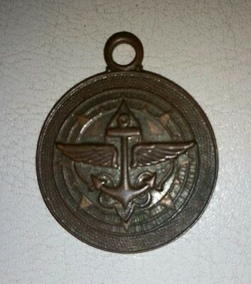 early scouting watch fob sea scouts medal