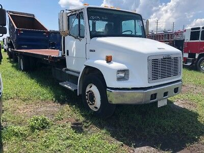 2001 freightliner fl 70 20k jerrdan 28ft heavy duty equipment/rollback wrecker
