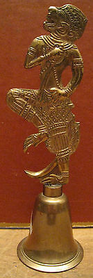 EXTREMELY RARE VERY OLD LARGE HANUMAN, the Hindu MONKEY GOD BRASS BELL