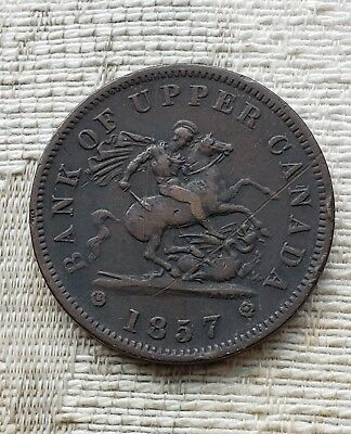 Canada 1857 Bank Of Upper Canada One Penny Token  Breton 719  PC 6-D