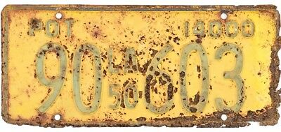 1950 Louisiana PRIVATE OWNED TRUCK POT License Plate #90-603 No Reserve