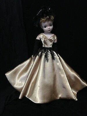Evening dress, mitts, slip and hat made for Mme Alexander Cissy doll