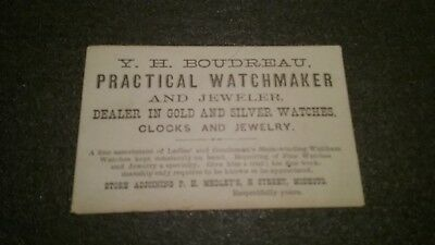 early victorian Watchmaker business card