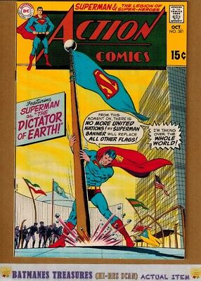 Action Comics #381 (9.0-9.2) NM- Superman 1969 Silver Age Key Issue