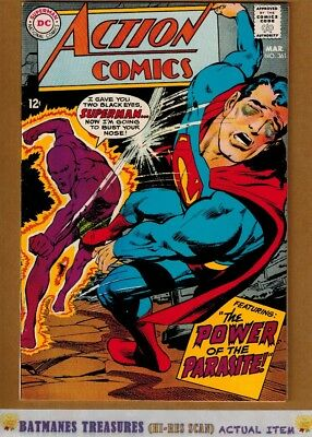 Action Comics #361 (8.5) VF+ Superman 2nd Appearance of Parasite 1968 Neal Adams
