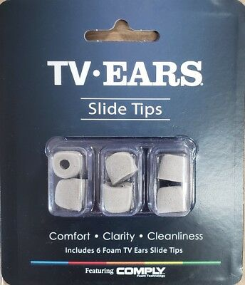 TV Ears Replacement Tips - Grey Slide on 40725 3 pair - Version 5.0