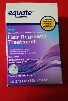 12 month Equate hair regrowth treatment minoxidil topical foam ex. 10/19